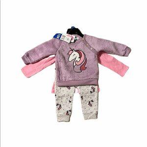 Pekkle 3-PC Sweater/Top/Pant Set - Unicorns 🦄